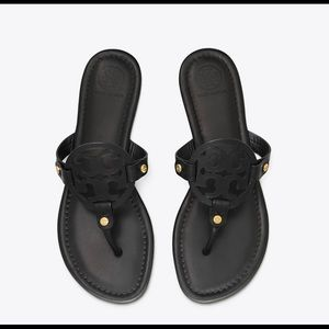 Tory Burch Black Leather Miller Sandal